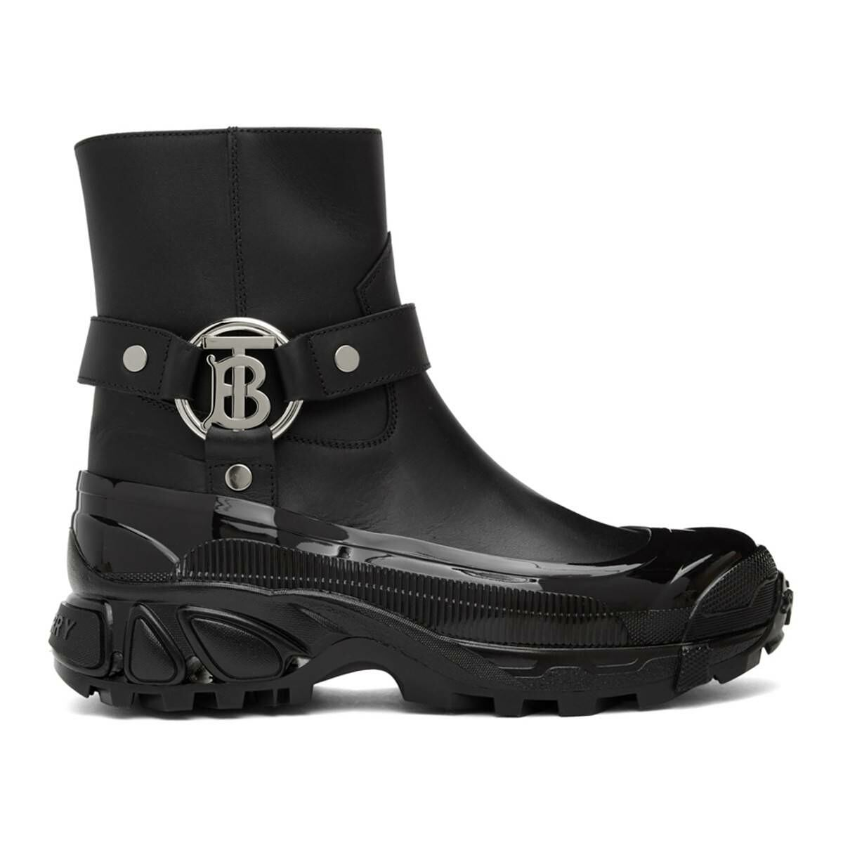 Burberry Black Mallory Boots Ssense USA WOMEN Women SHOES Womens ANKLE BOOTS