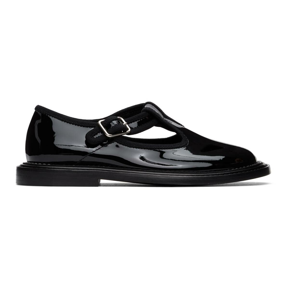 Burberry Black Patent Alannis Flat Derbys Ssense USA WOMEN Women SHOES Womens LEATHER SHOES