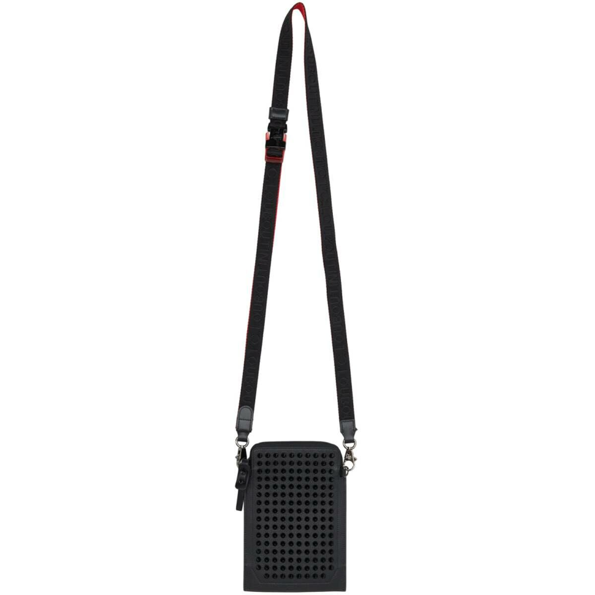 Christian Louboutin Black Loubilab Messenger Bag Ssense USA MEN Men ACCESSORIES Mens BAGS