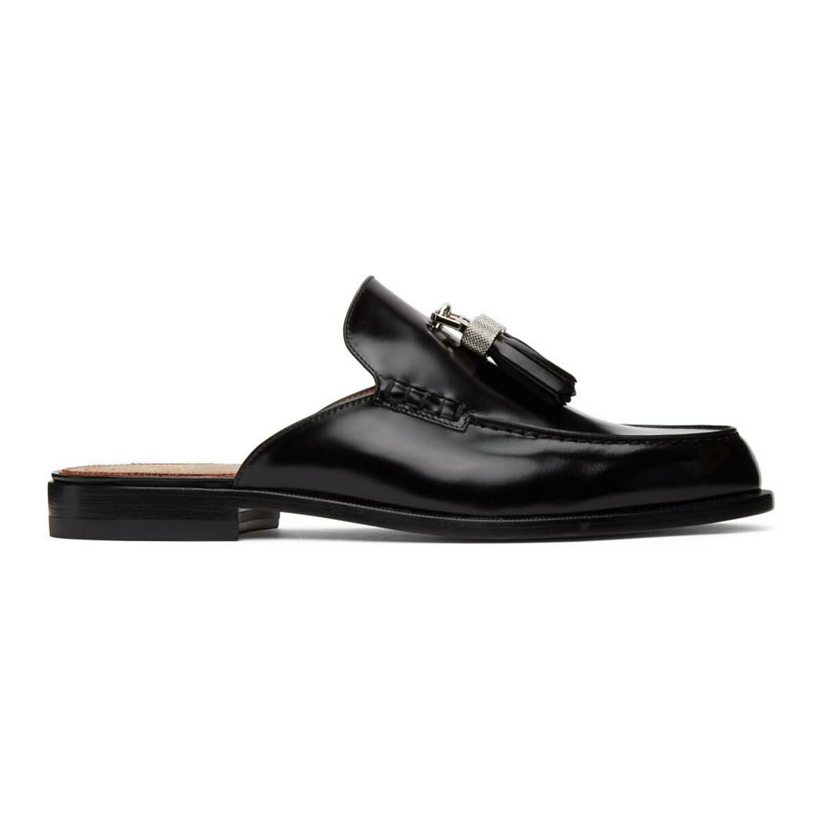 Christian Louboutin Black Rivaslide Loafers Ssense USA MEN Men SHOES Mens LOAFERS