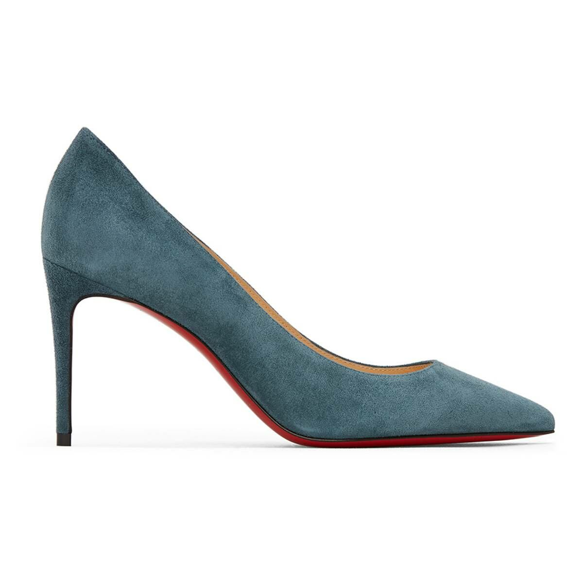 Christian Louboutin Blue Suede Kate 85 Heels Ssense USA WOMEN Women SHOES Womens HIGH HEELS