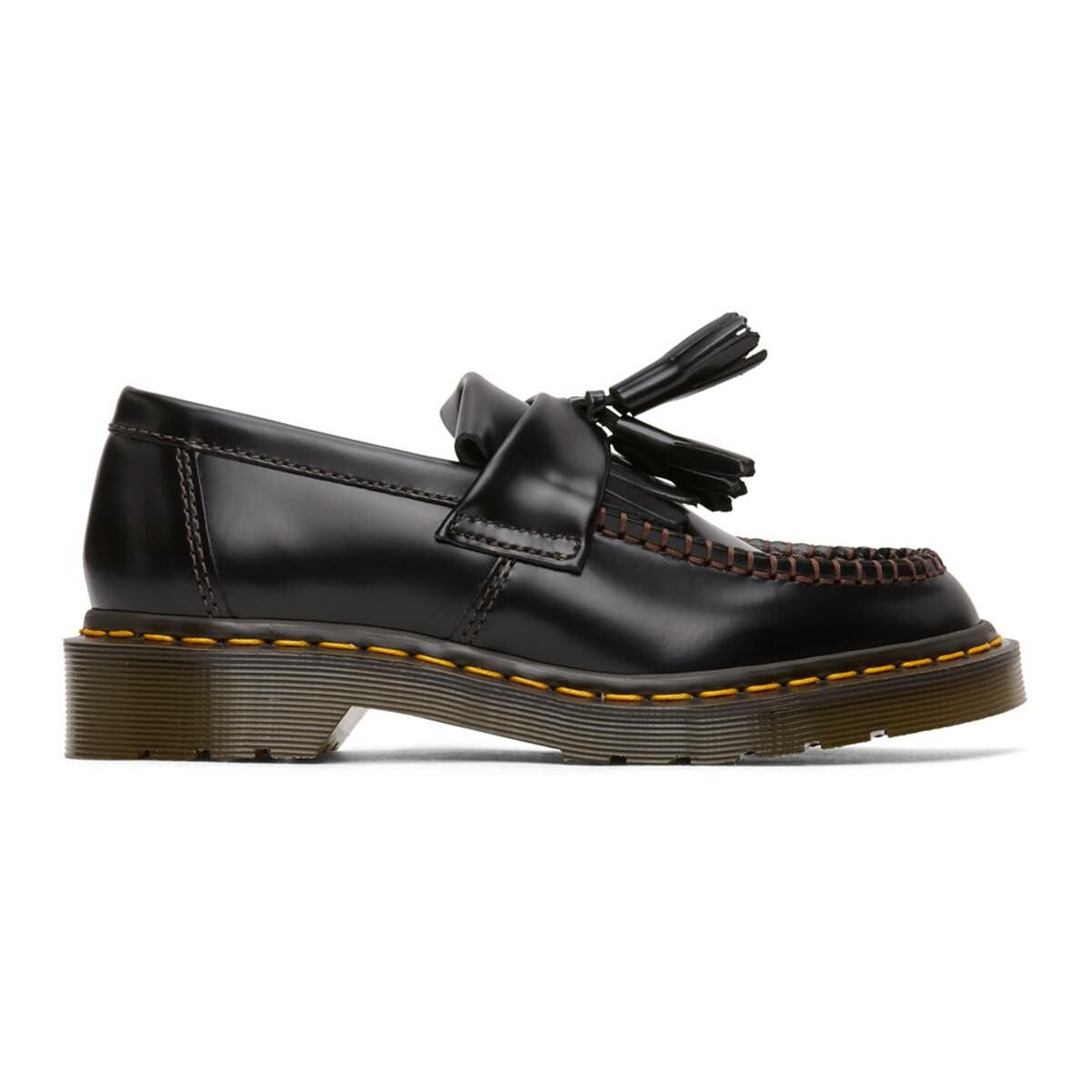 Comme des Garcons Comme des Garcons Black Dr. Martens Edition Made In England Adrian Loafers Ssense USA WOMEN Women SHOES Womens SLIPPERS