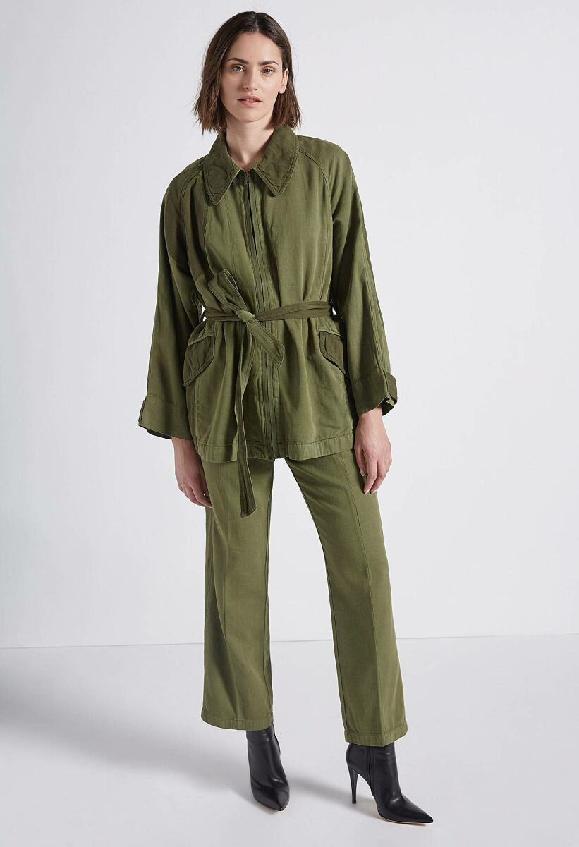 Current Elliott Relaxed Military Jacket Army Green WOMEN