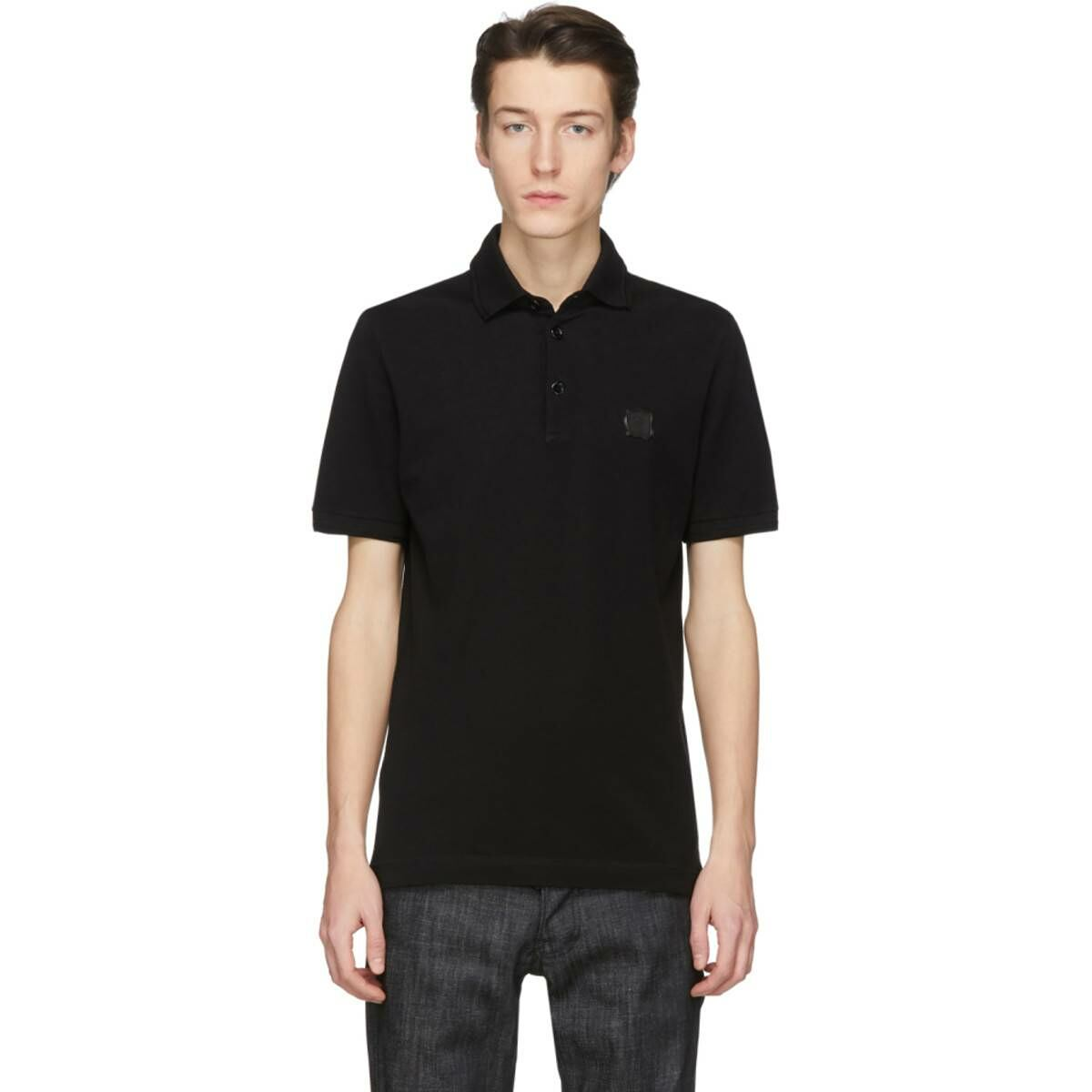 Dolce and Gabbana Black Stamp Polo Ssense USA MEN Men FASHION Mens POLOSHIRTS