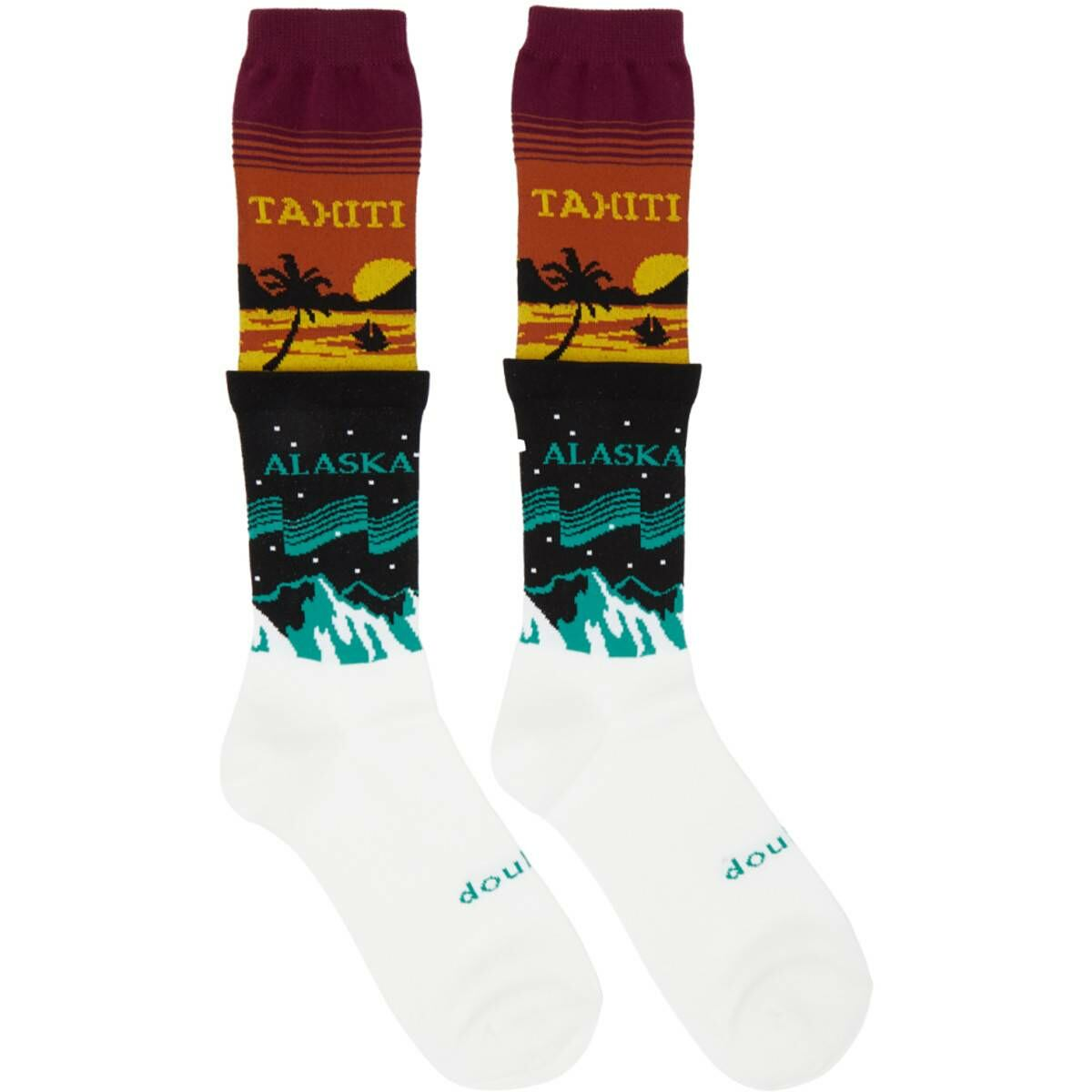 Doublet Multicolor Temperature Layered Socks Ssense USA MEN Men ACCESSORIES Mens SOCKS