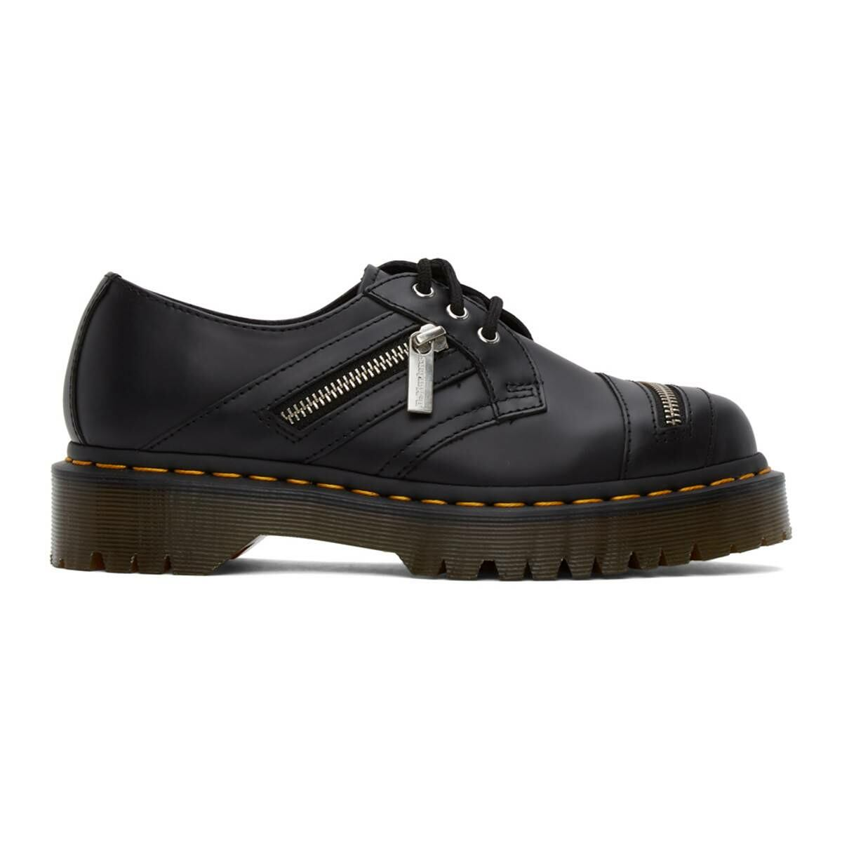 Dr. Martens Black 1461 Bex Zip Derbys Ssense USA WOMEN Women SHOES Womens LEATHER SHOES