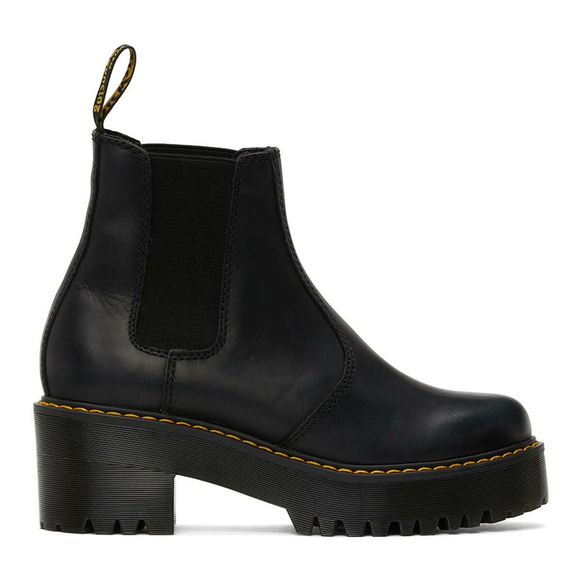 Dr. Martens Black Rometty Platform Boots Ssense USA WOMEN Women SHOES Womens ANKLE BOOTS