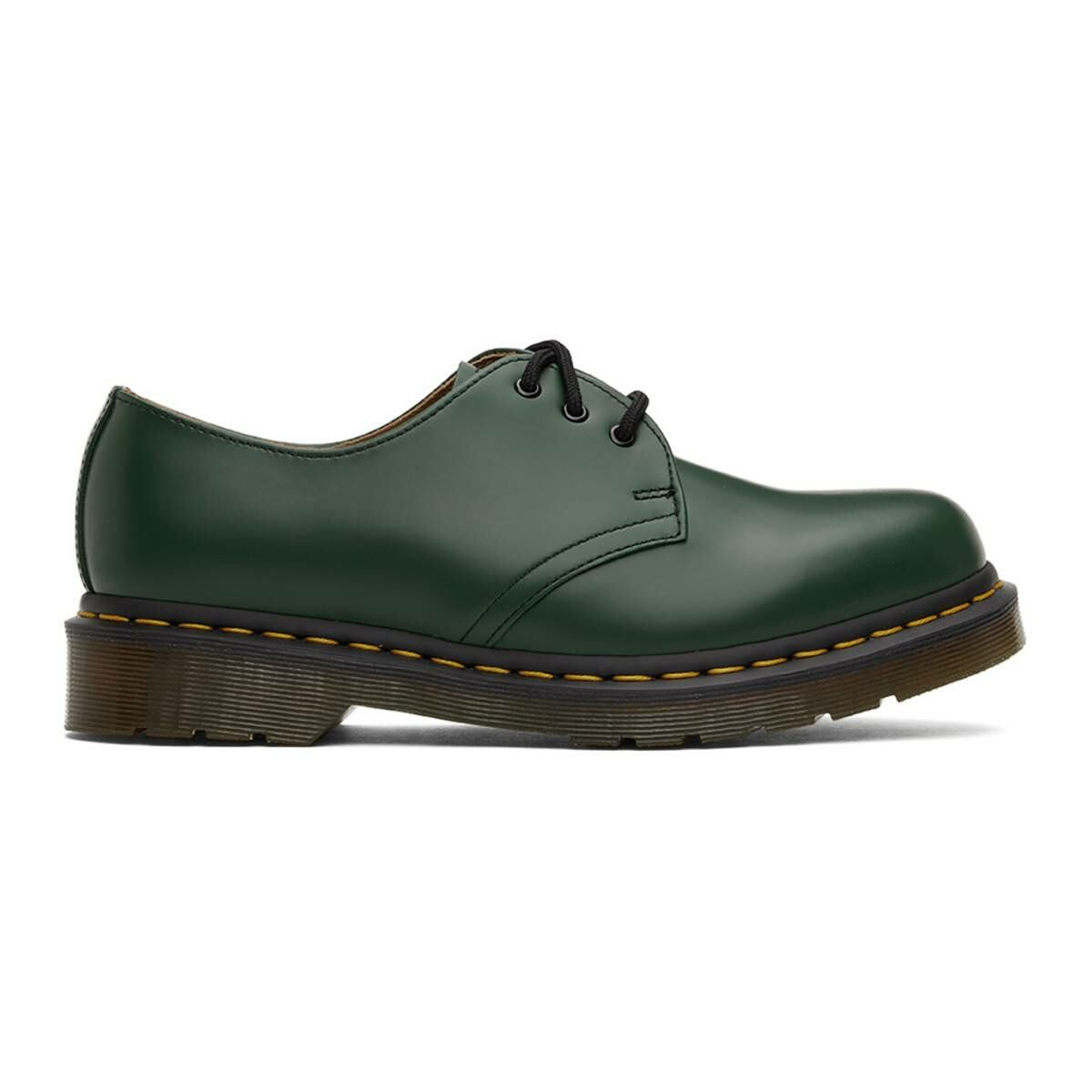 Dr. Martens Green 1461 Derbys Ssense USA MEN Men SHOES Mens FORMAL SHOES