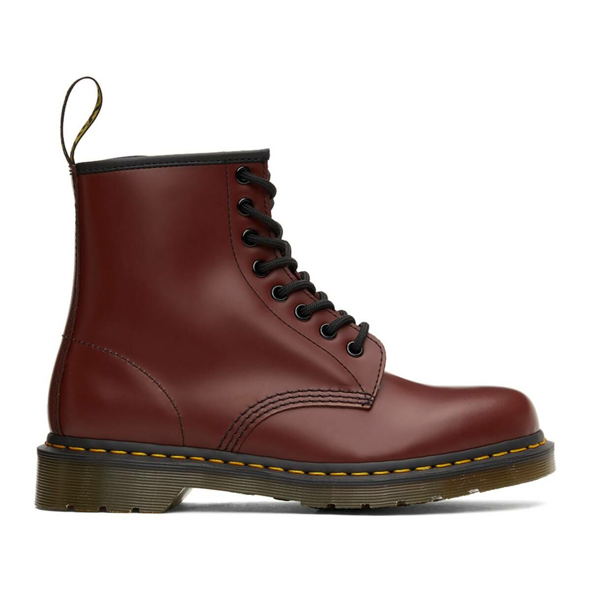 Dr. Martens Red 1460 Smooth Lace-Up Boots Ssense USA MEN Men SHOES Mens BOOTS