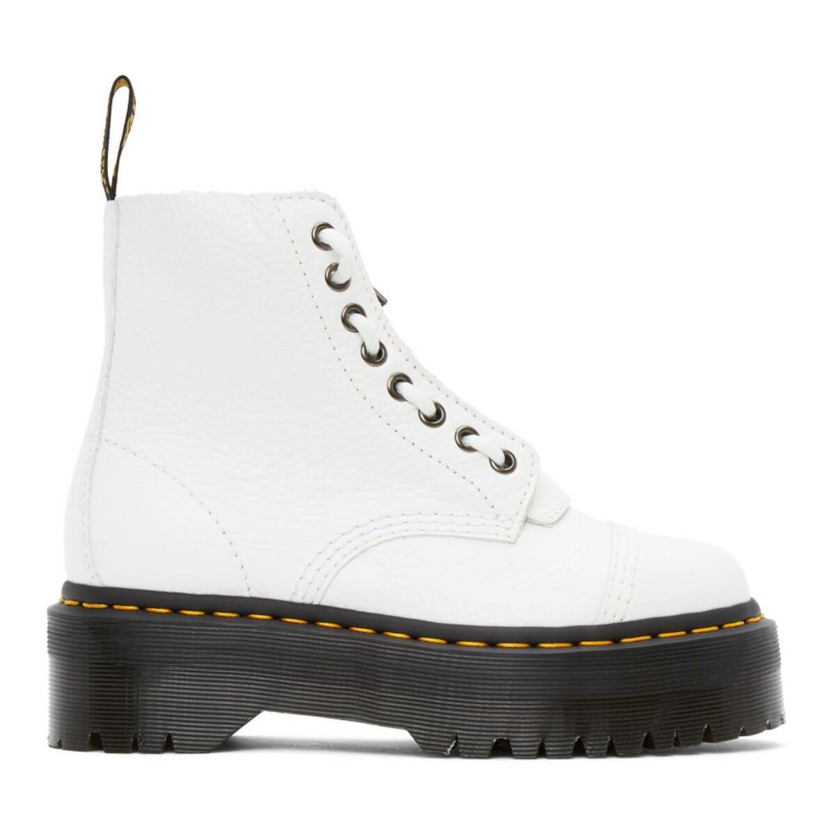 Dr. Martens White Sinclair Zip Boots Ssense USA WOMEN Women SHOES Womens ANKLE BOOTS