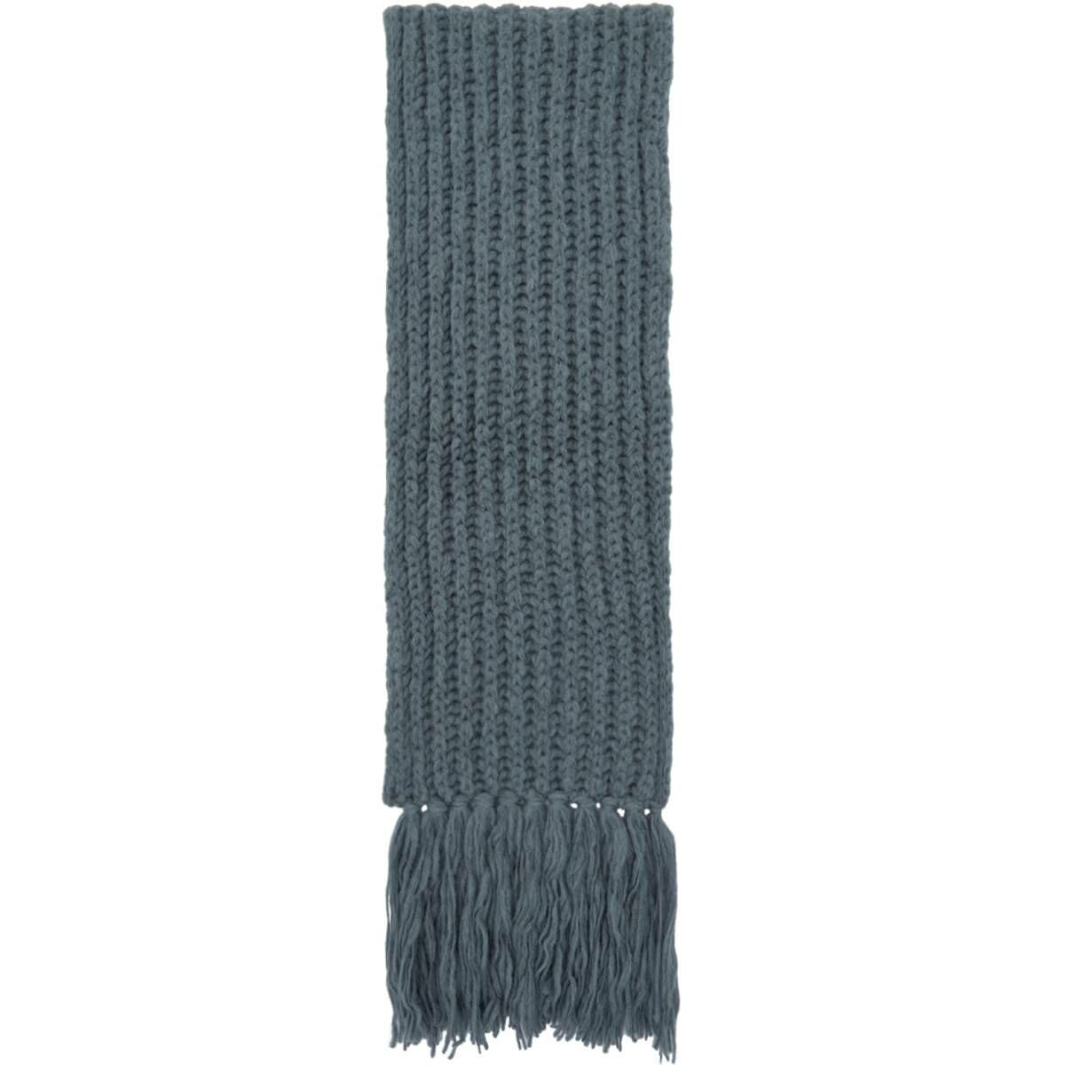 Dries Van Noten Blue Merino and Alpaca Maraz Scarf Ssense USA MEN Men ACCESSORIES Mens SCARFS
