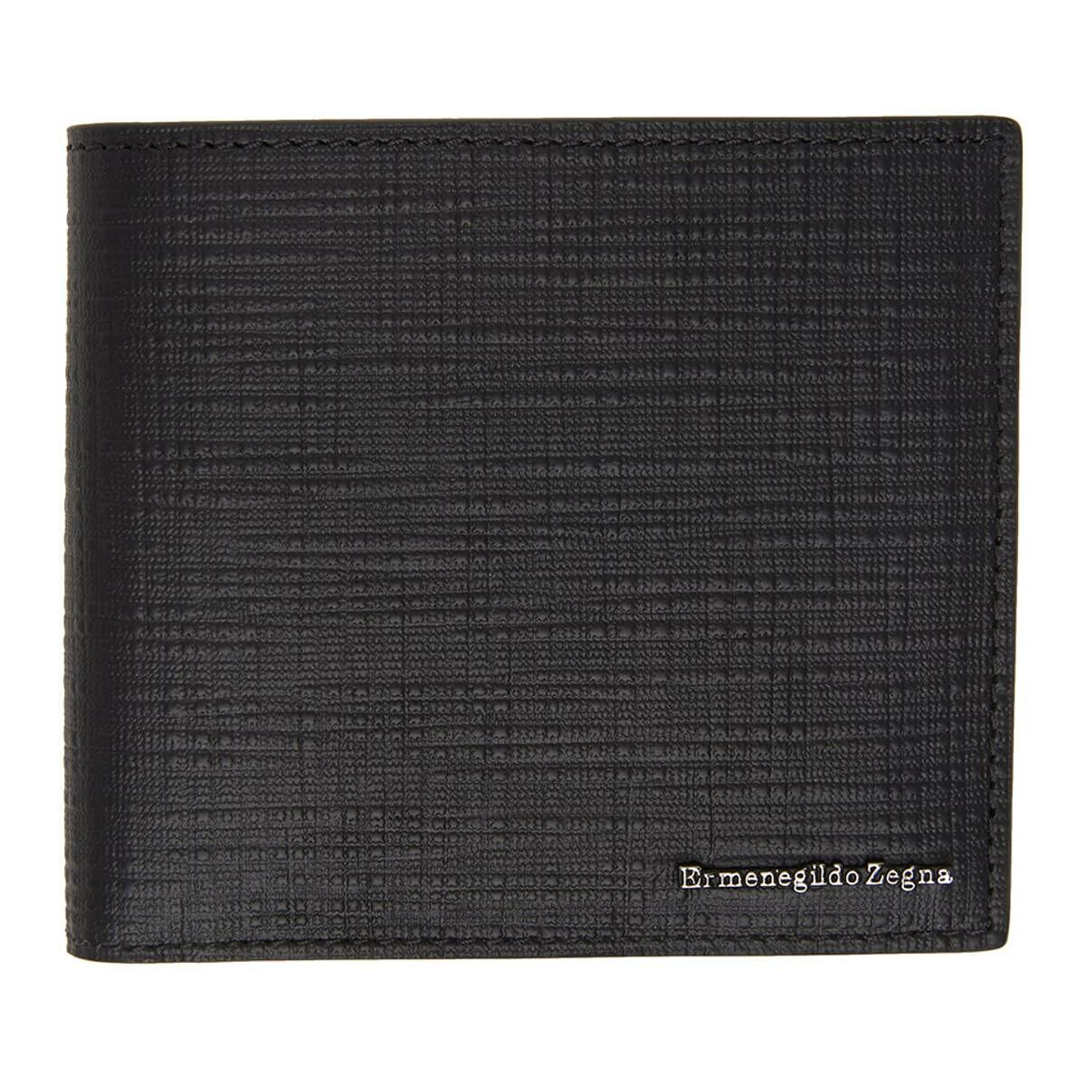 Ermenegildo Zegna Black Leather Wallet Ssense USA MEN Men ACCESSORIES Mens WALLETS
