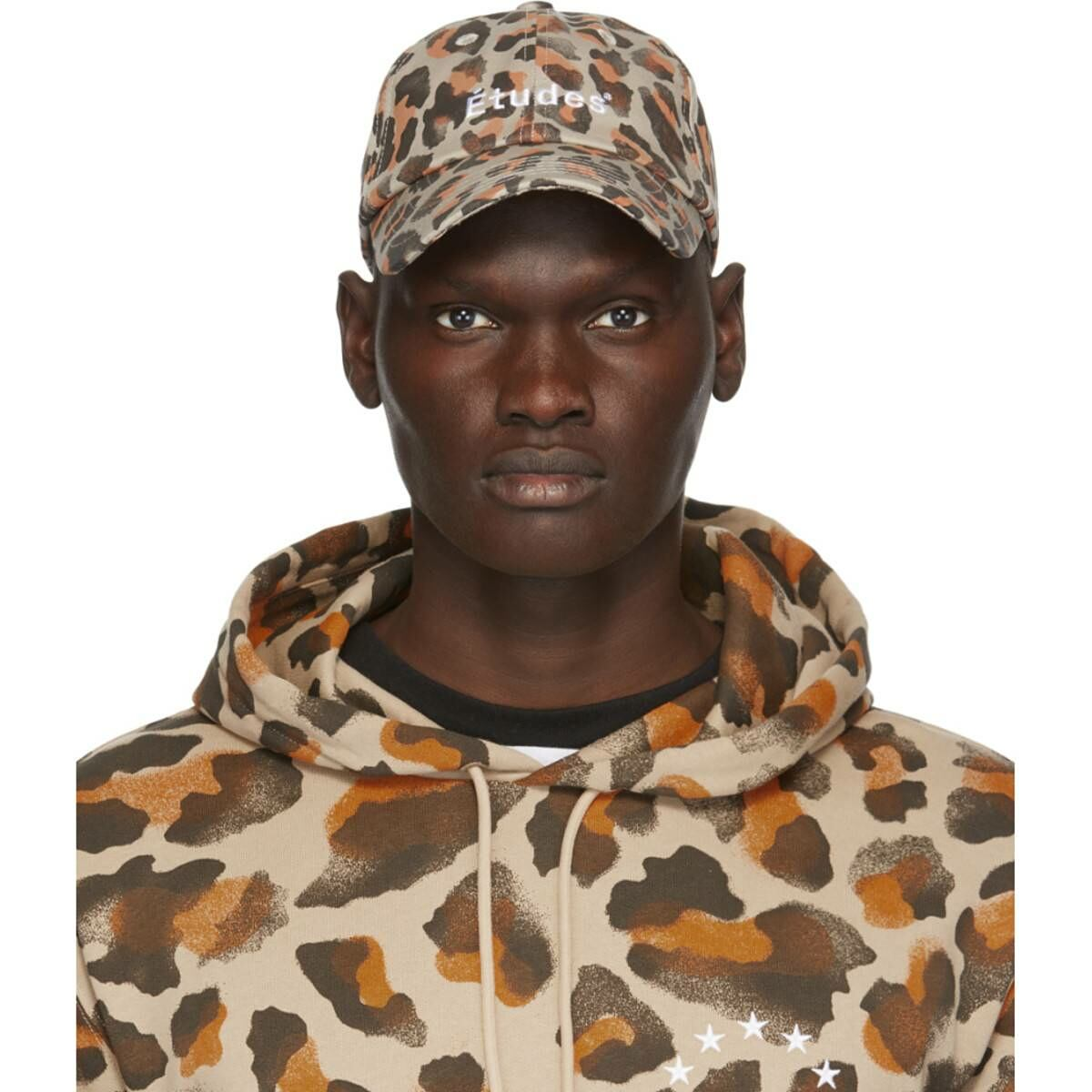 Etudes Beige Leopard Booster Cap Ssense USA MEN Men ACCESSORIES Mens CAPS