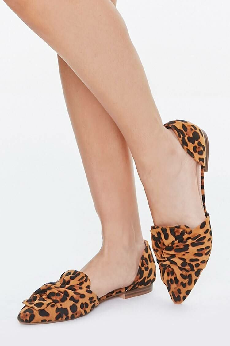 Forever 21 Black/Brown Pointed Leopard Print Flats WOMEN Women SHOES Womens FLAT SHOES