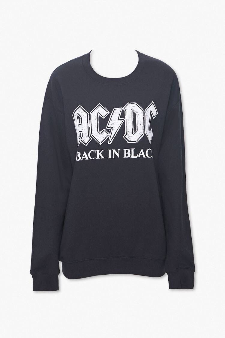Forever 21 Black/White ACDC Graphic Pullover WOMEN Women FASHION Womens SWEATERS