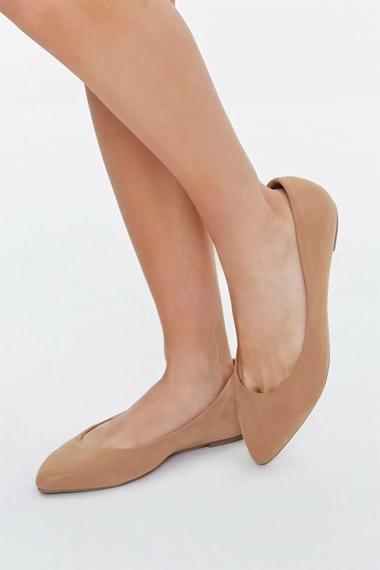 Forever 21 Brown Pointed Slip-On Flats WOMEN Women SHOES Womens FLAT SHOES