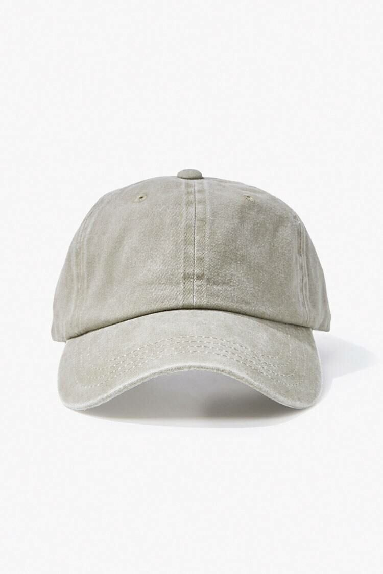 Forever 21 Green Stonewashed Dad Cap MEN Men ACCESSORIES Mens CAPS