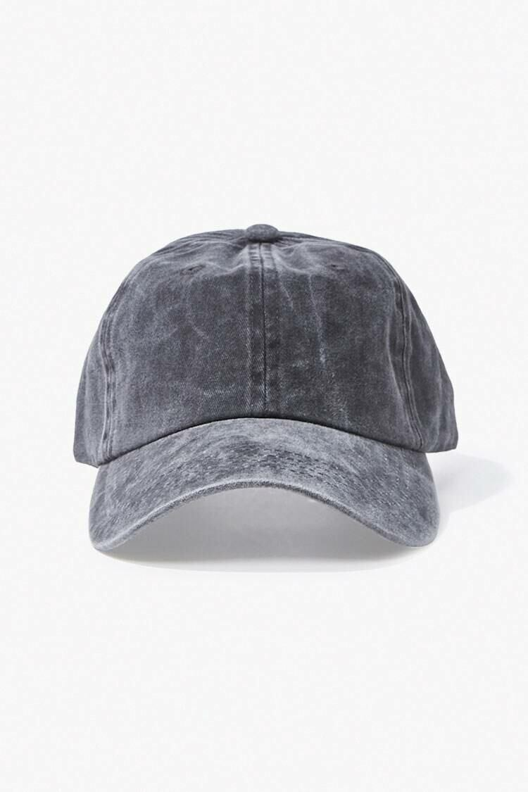 Forever 21 Grey Stonewashed Dad Cap MEN Men ACCESSORIES Mens CAPS