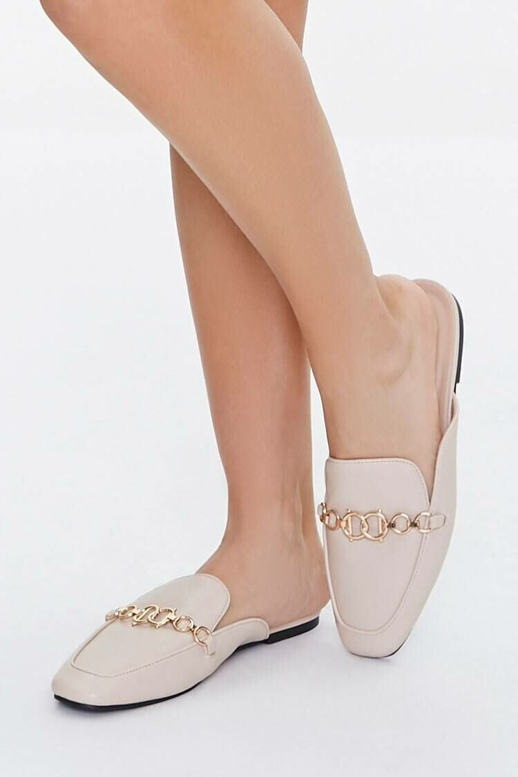 Forever 21 Nude Rolo Chain Loafers WOMEN Women SHOES Womens FLAT SHOES