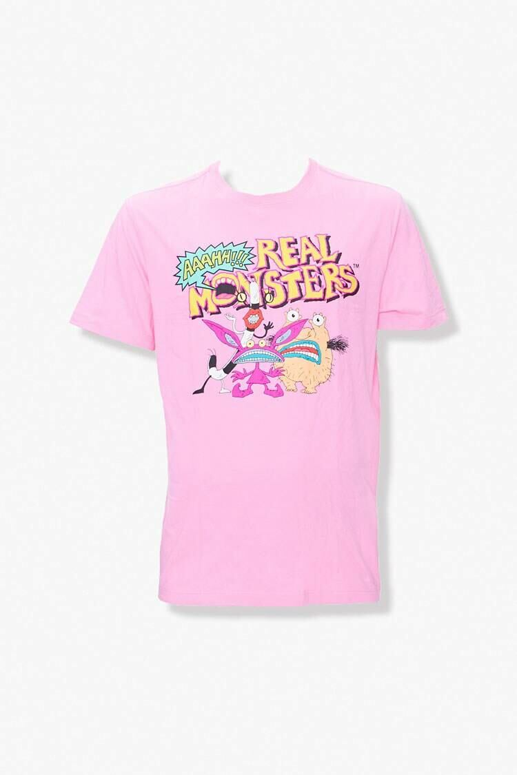 Forever 21 Pink/Multi Aaahh Real Monsters Graphic Tee MEN Men FASHION Mens T-SHIRTS