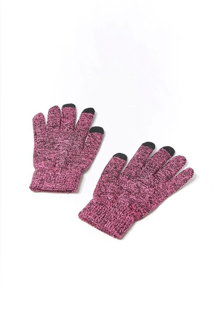 Forever 21 Pink/Multi Marled Touchscreen Gloves WOMEN Women ACCESSORIES Womens GLOVES