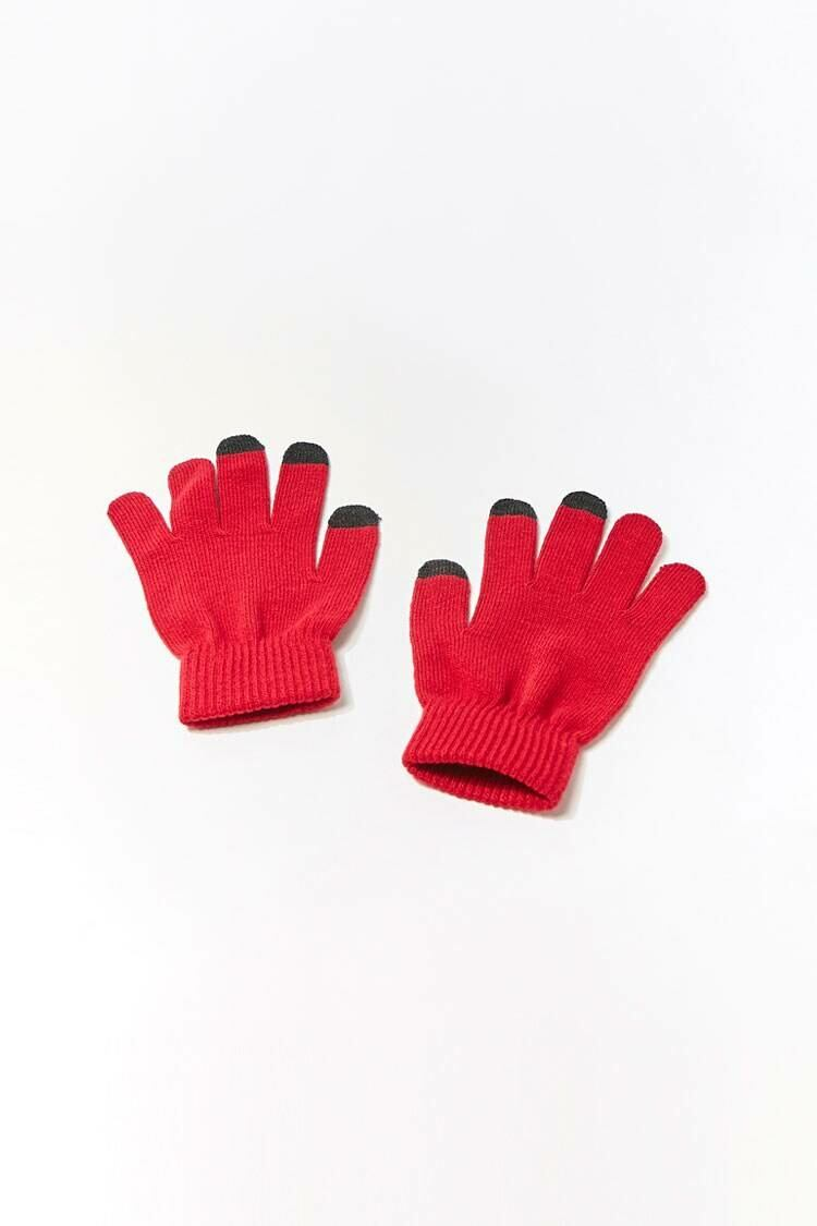 Forever 21 Red Texting Tech Gloves WOMEN Women ACCESSORIES Womens GLOVES