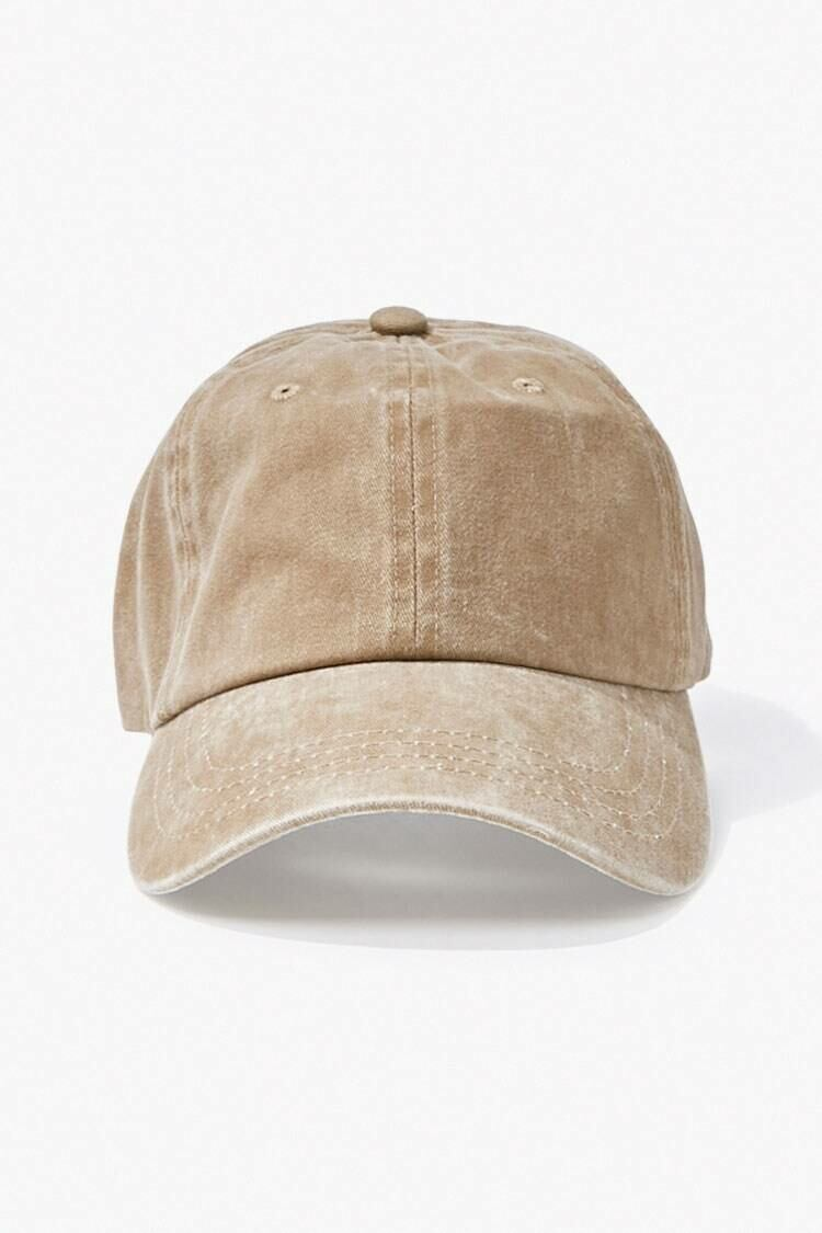 Forever 21 Taupe Stonewashed Dad Cap MEN Men ACCESSORIES Mens CAPS