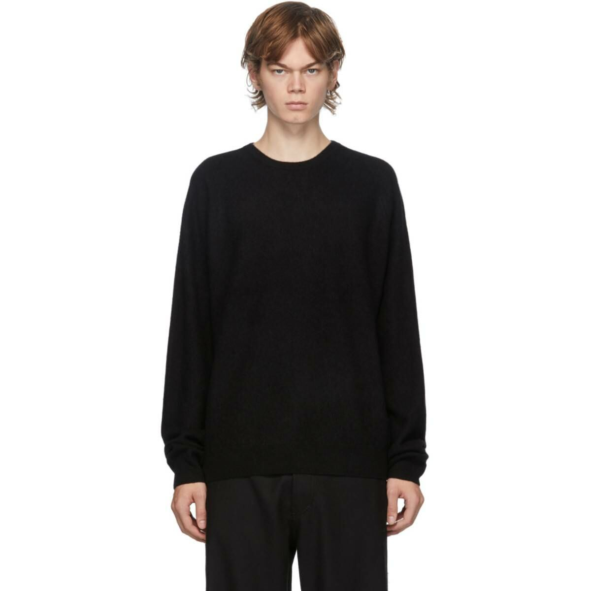Frenckenberger Black Cashmere Boyfriend Sweater Ssense USA MEN Men FASHION Mens KNITWEAR