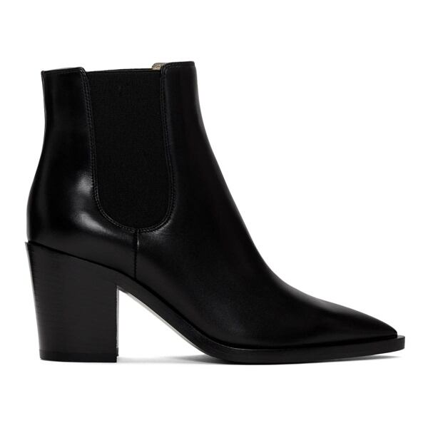 Gianvito Rossi Black Romney Boots Ssense USA WOMEN Women SHOES Womens ANKLE BOOTS