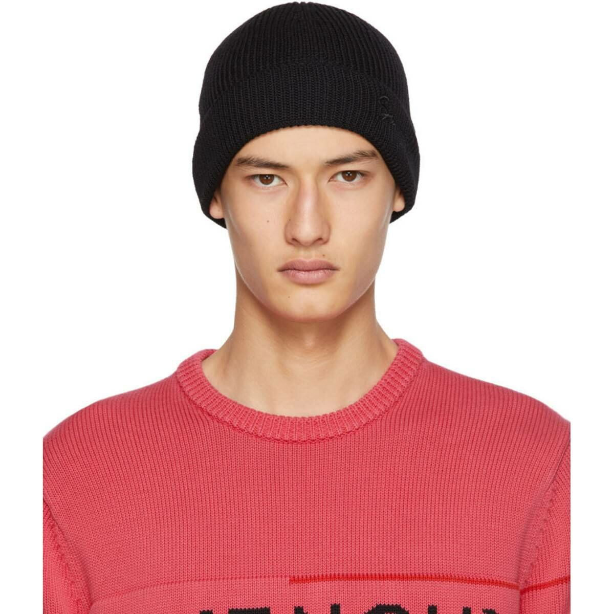 Givenchy Black Wool Embroidered Beanie Ssense USA MEN Men ACCESSORIES Mens HATS