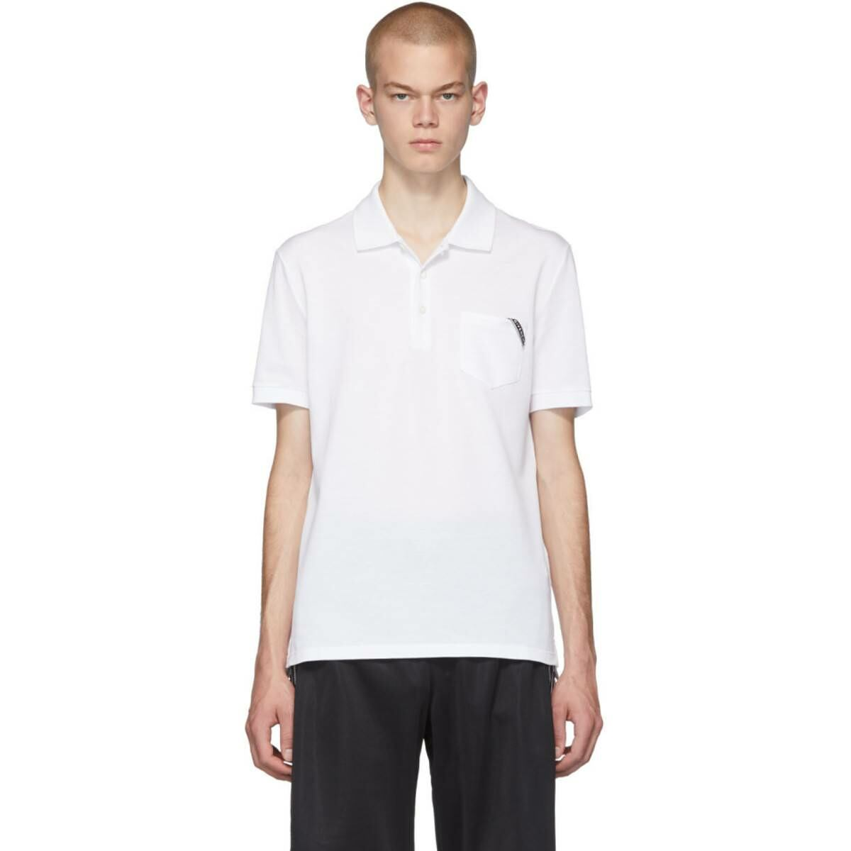 Givenchy White Logo Polo Ssense USA MEN Men FASHION Mens POLOSHIRTS