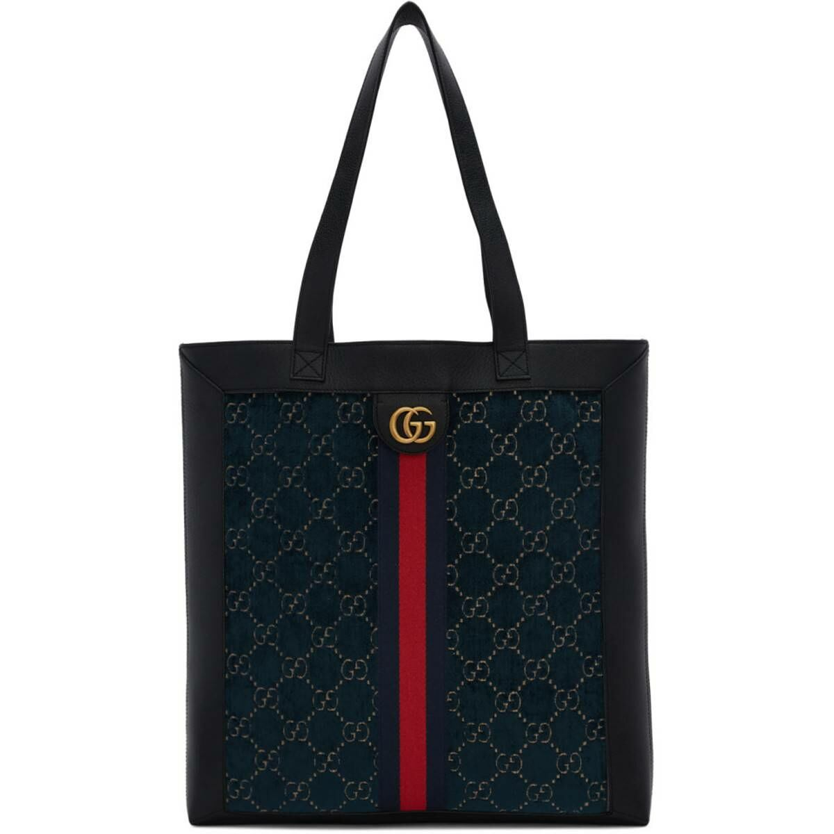 Gucci Blue Velvet GG Tote Ssense USA MEN Men ACCESSORIES Mens BAGS