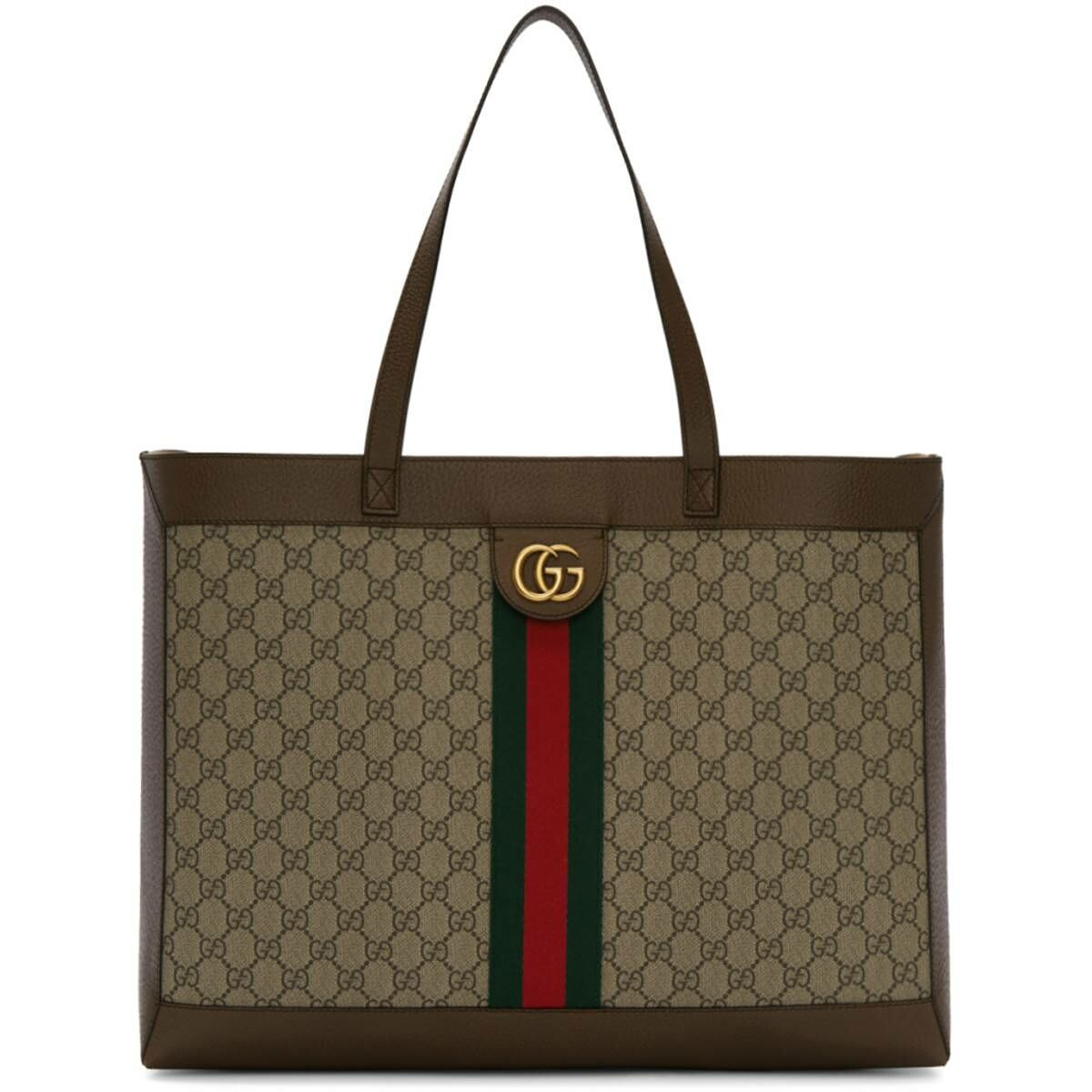 Gucci Brown and Beige GG Ophidia Tote Ssense USA WOMEN Women ACCESSORIES Womens BAGS