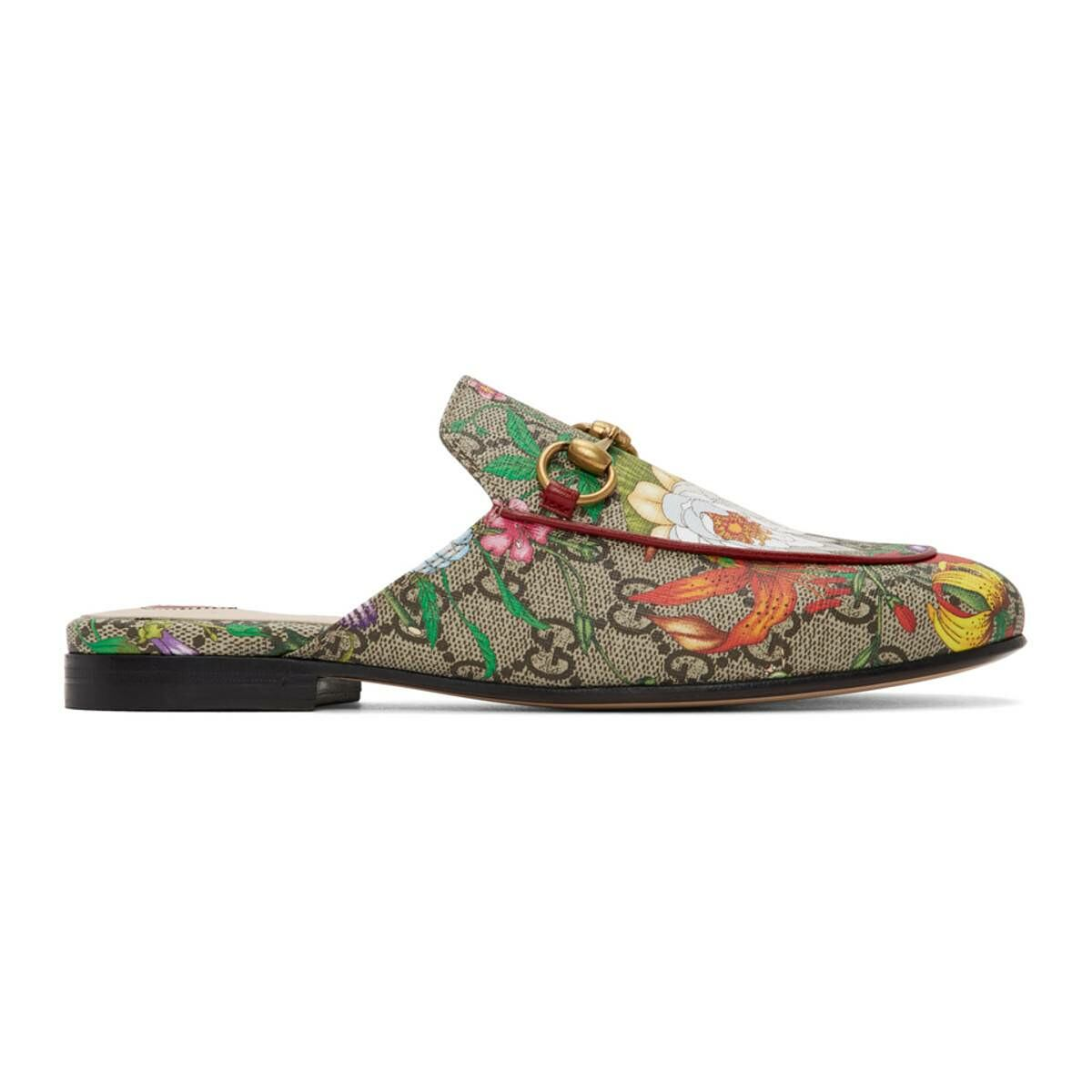 Gucci Multicolor GG Flora Princetown Slippers Ssense USA WOMEN Women SHOES Womens SLIPPERS