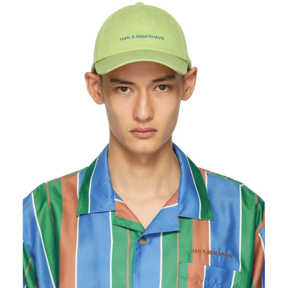 Han Kjobenhavn Green Logo Cap Ssense USA MEN Men ACCESSORIES Mens CAPS