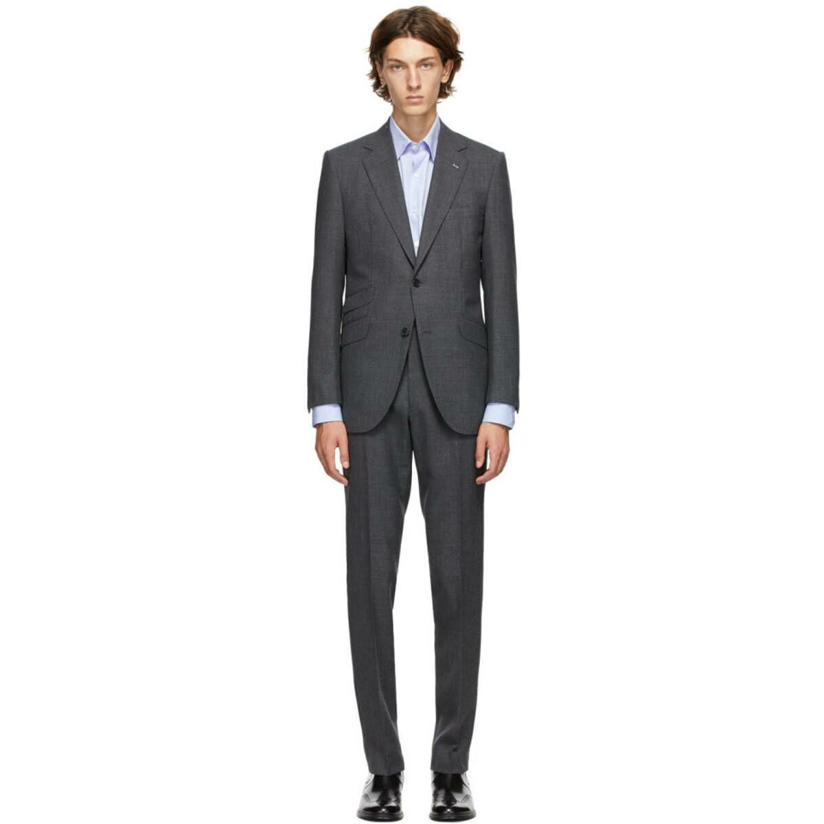 Husbands Grey Mohair Heavy Suit Ssense USA MEN Men FASHION Mens SUITS