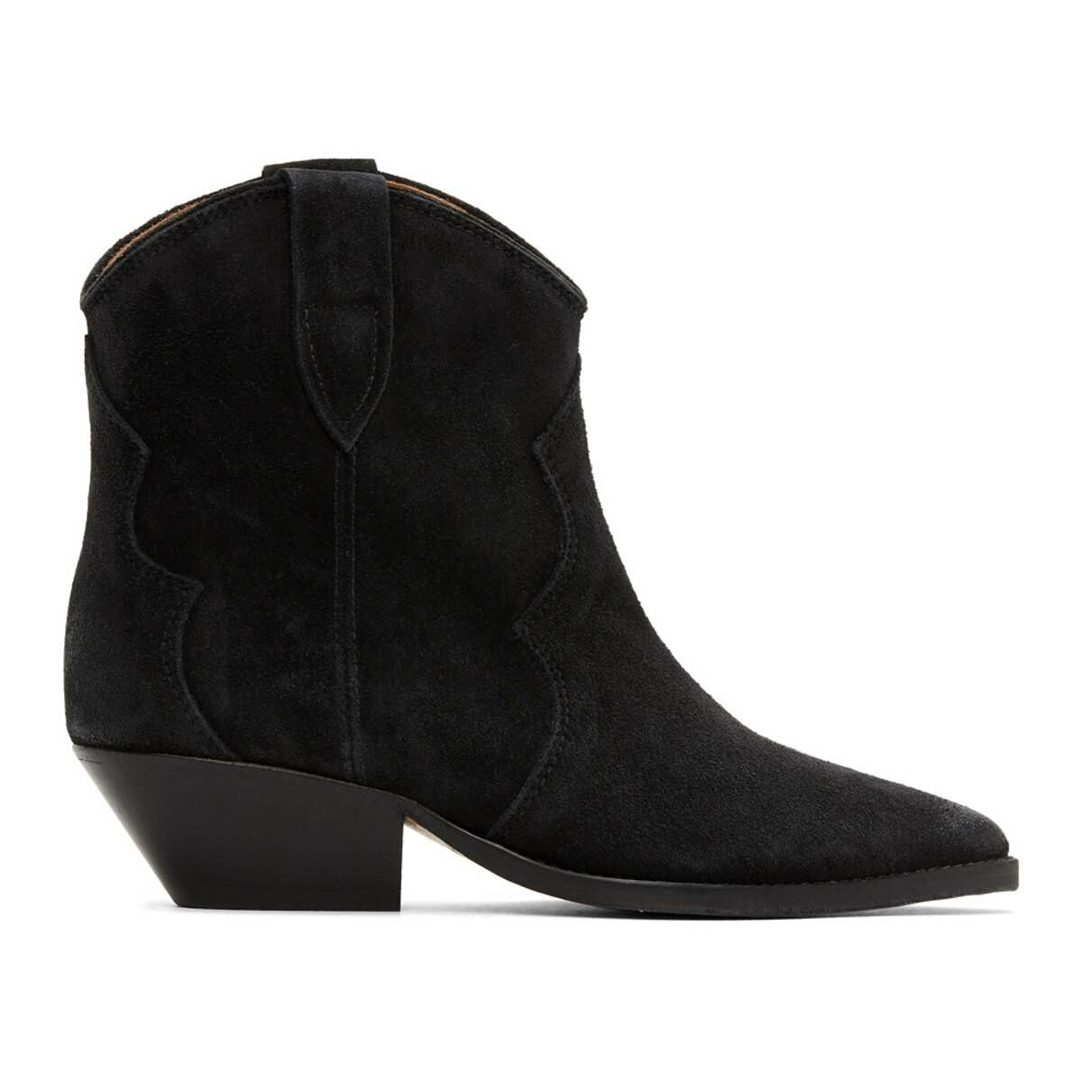 Isabel Marant Black Dewina Boots Ssense USA WOMEN Women SHOES Womens ANKLE BOOTS