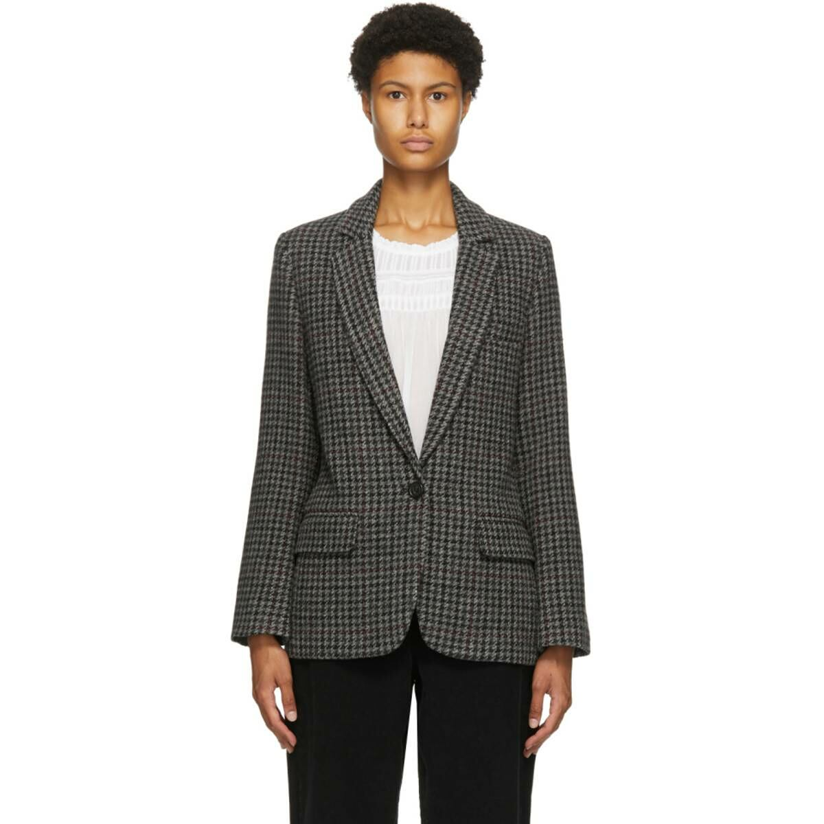 Isabel Marant Etoile Grey Charly Blazer Ssense USA WOMEN Women FASHION Womens BLAZER