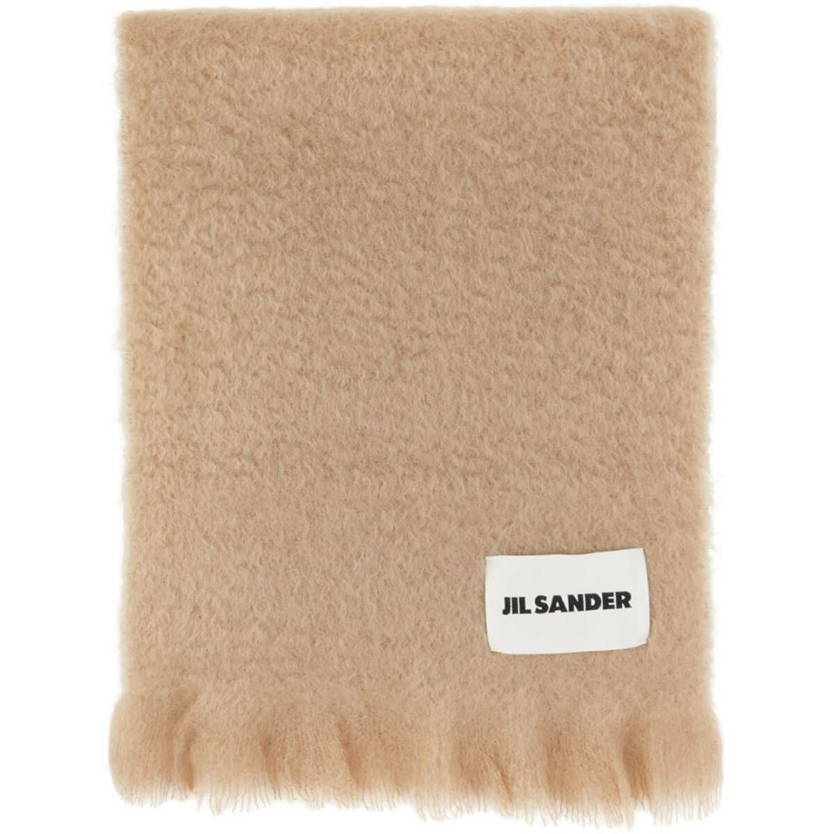 Jil Sander Beige Mohair and Wool Scarf Ssense USA MEN Men ACCESSORIES Mens SCARFS