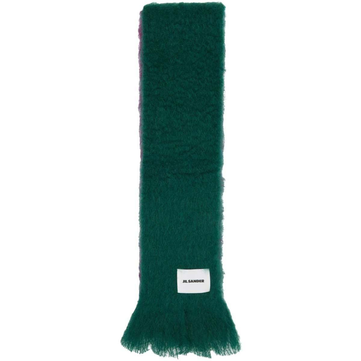 Jil Sander Green and Purple Mohair Scarf Ssense USA MEN Men ACCESSORIES Mens SCARFS