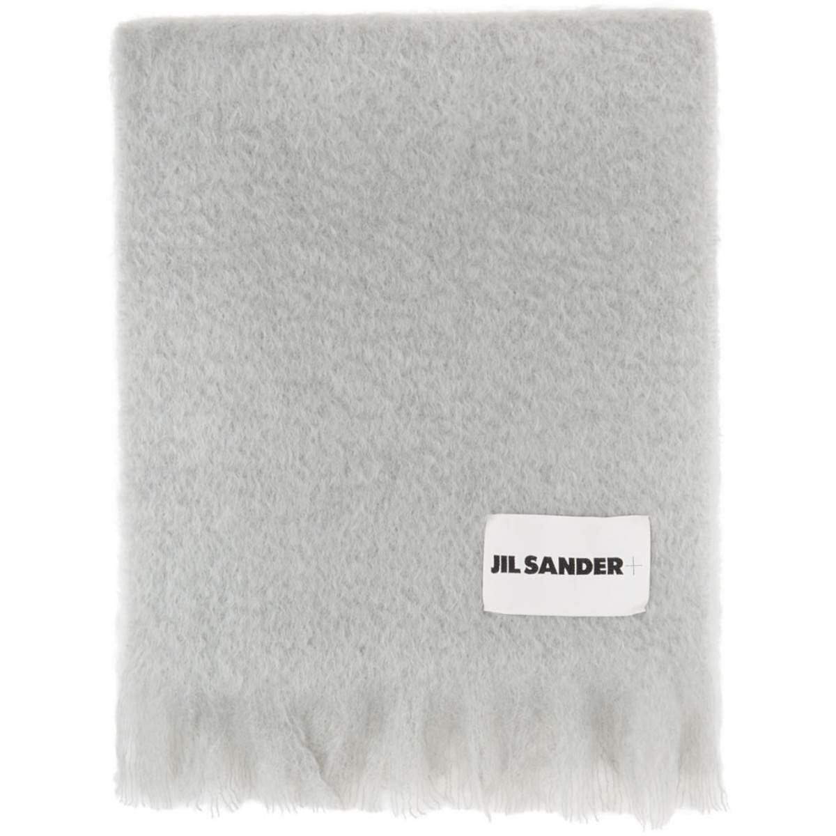 Jil Sander Grey Mohair and Wool Scarf Ssense USA MEN Men ACCESSORIES Mens SCARFS