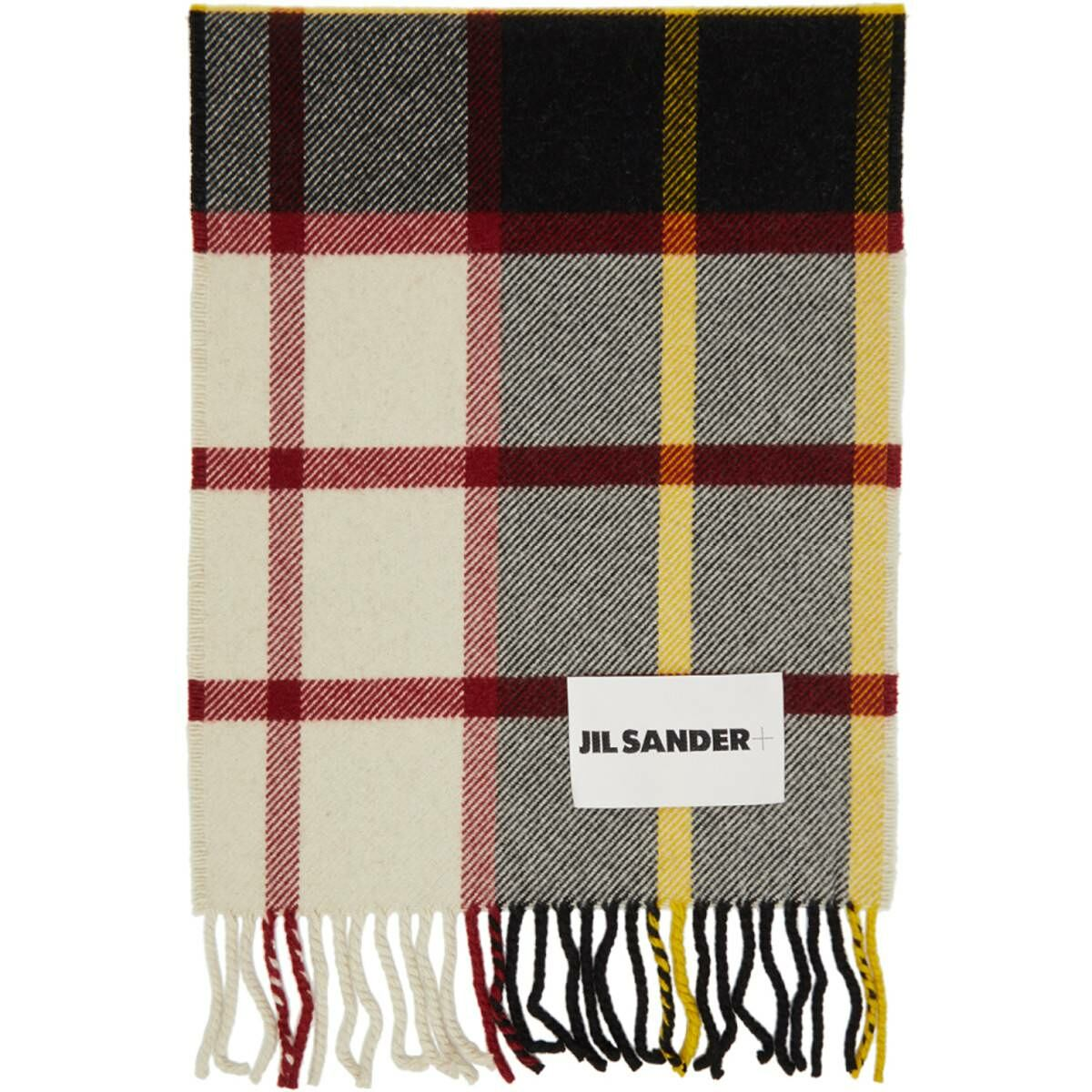 Jil Sander Multicolor Wool Knit Scarf Ssense USA MEN Men ACCESSORIES Mens SCARFS