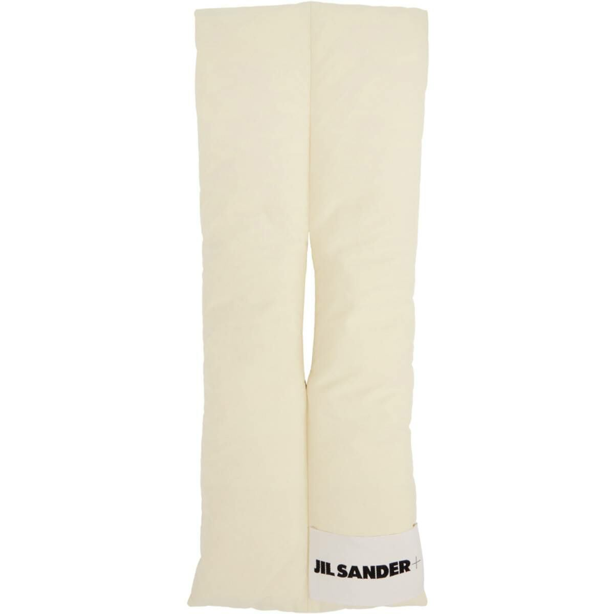 Jil Sander Off-White Down Scarf Ssense USA MEN Men ACCESSORIES Mens SCARFS