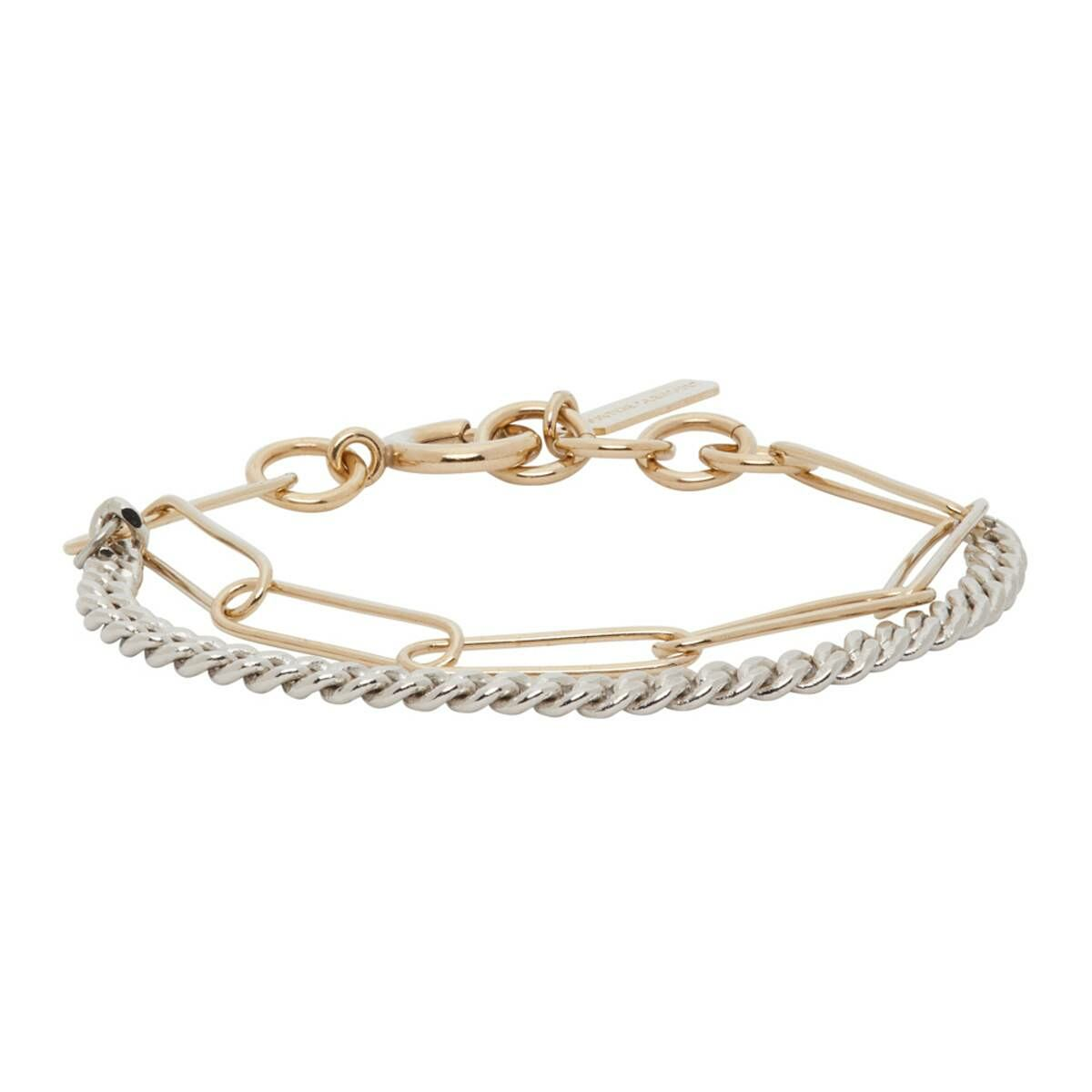 Justine Clenquet Silver and Gold Pixie Bracelet Ssense USA WOMEN Women ACCESSORIES Womens JEWELRY