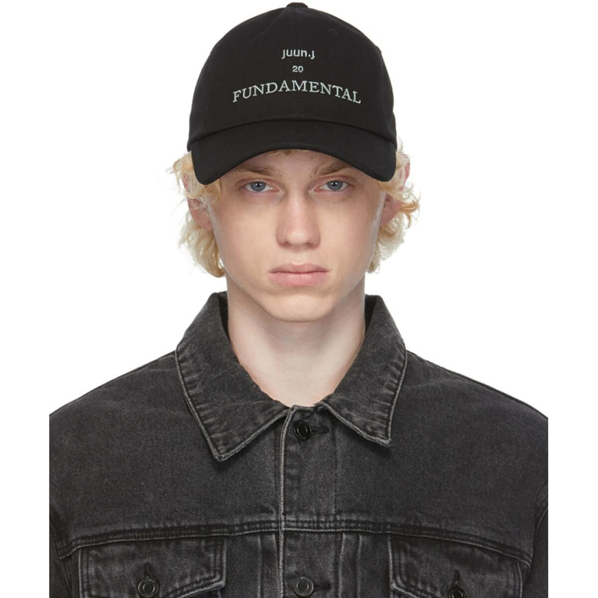 Juun.J Black Fundamental Baseball Cap Ssense USA MEN Men ACCESSORIES Mens CAPS