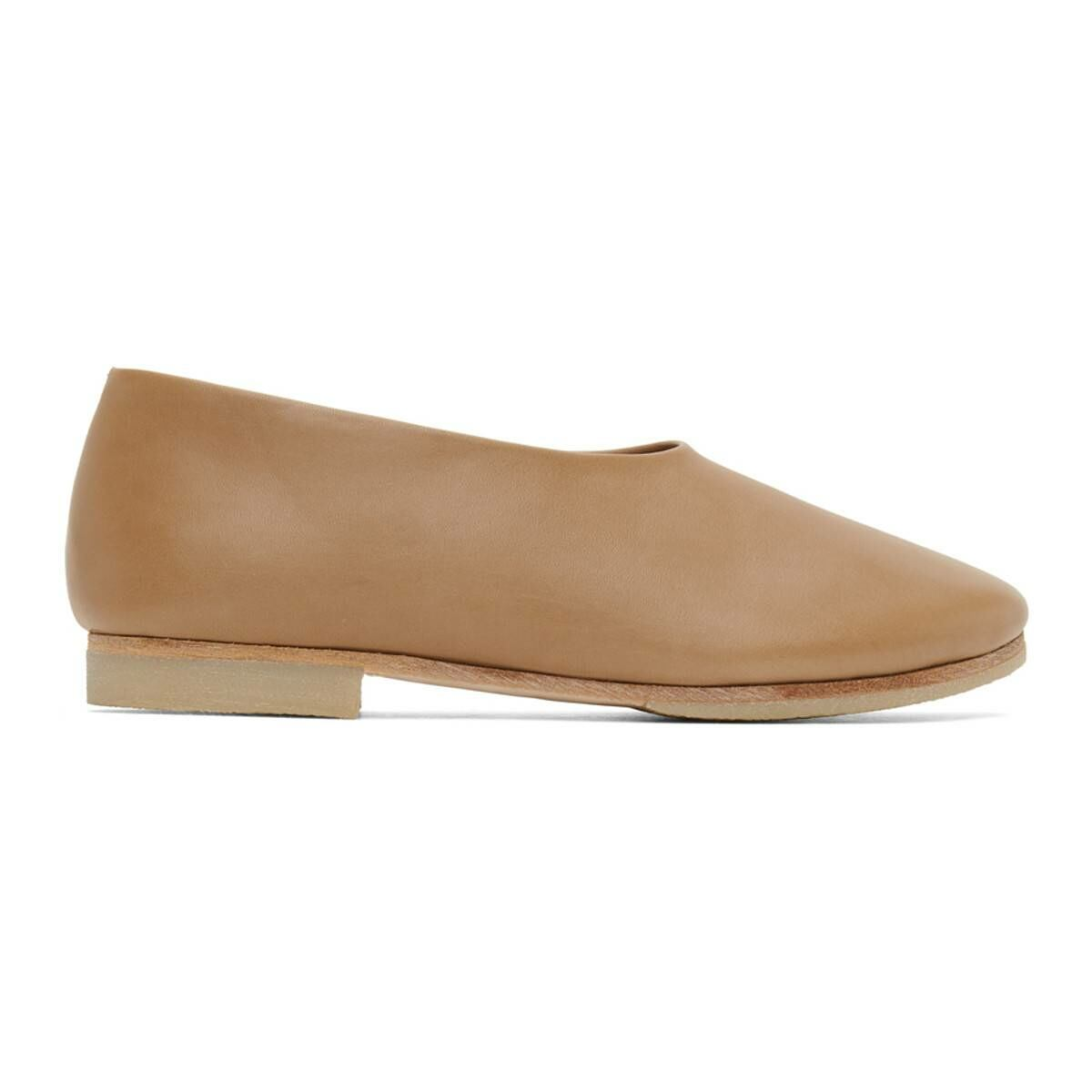 Lauren Manoogian Beige Ballet Ballerina Flats Ssense USA WOMEN Women SHOES Womens BALLERINAS