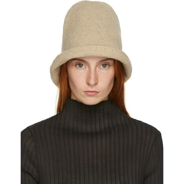 Lauren Manoogian Beige Bell Hat Ssense USA WOMEN Women ACCESSORIES Womens HATS