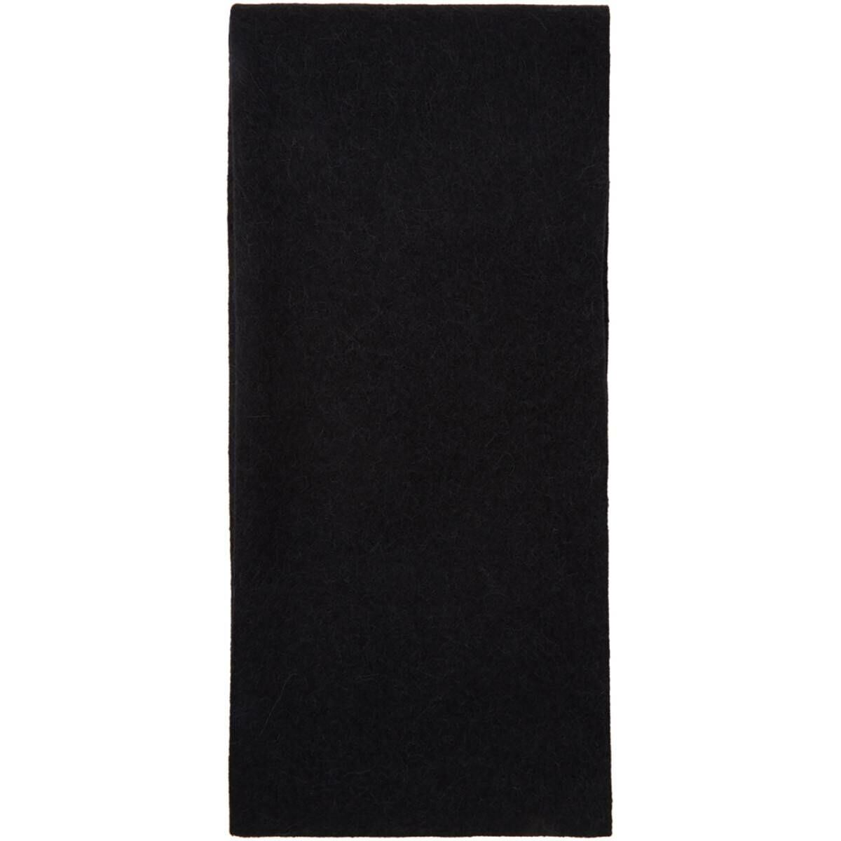 Lemaire Black Alpaca and Wool Oversized Scarf Ssense USA MEN Men ACCESSORIES Mens SCARFS