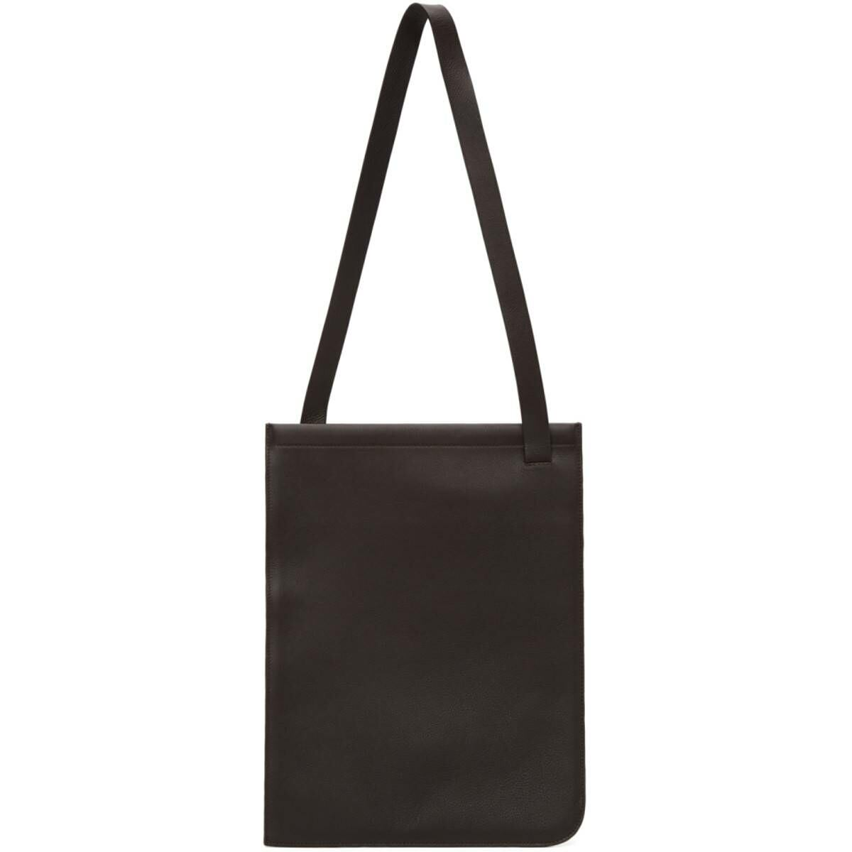 Lemaire Brown Nappa Leather Tote Ssense USA MEN Men ACCESSORIES Mens BAGS