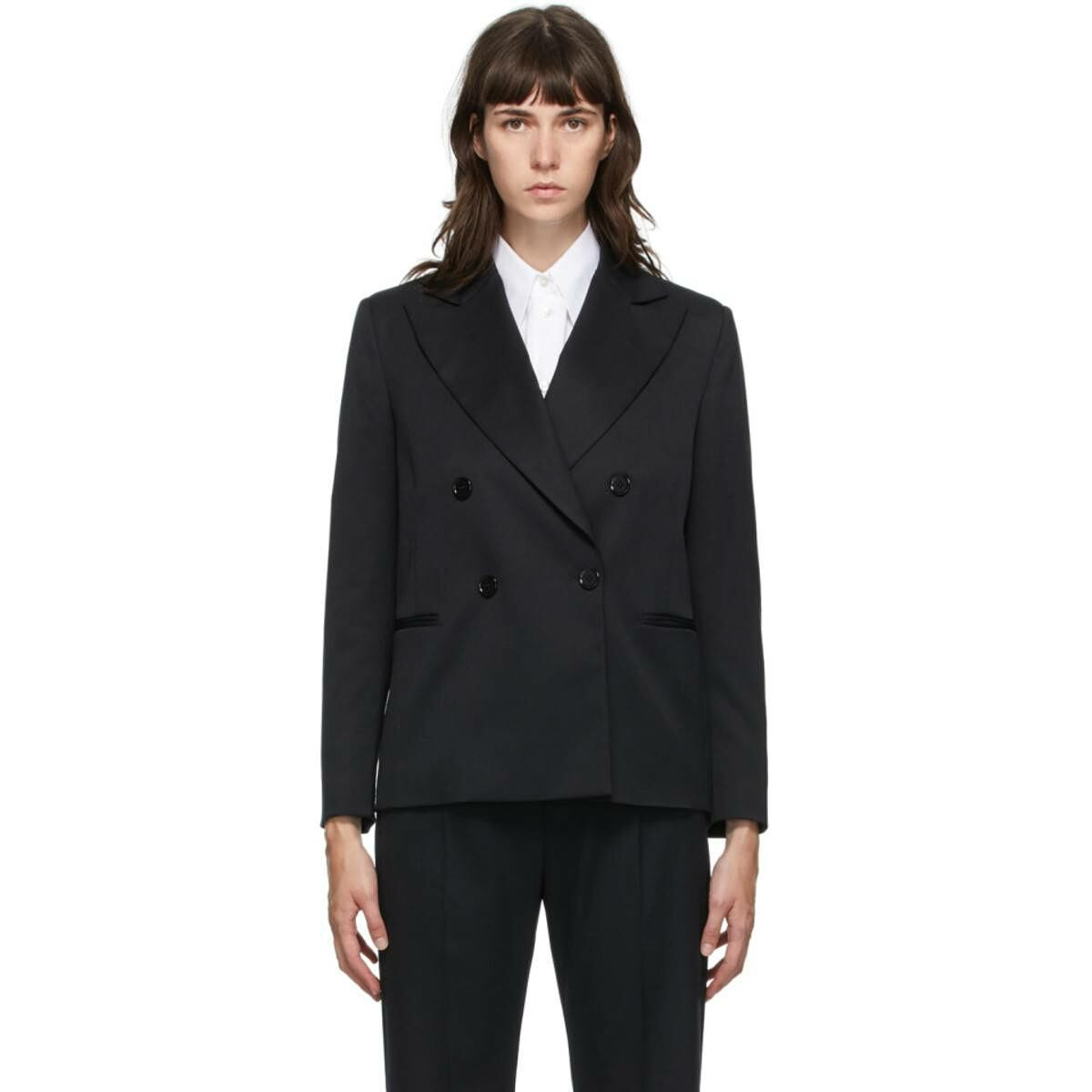 MM6 Maison Margiela Black Wool Blazer Ssense USA WOMEN Women FASHION Womens BLAZER
